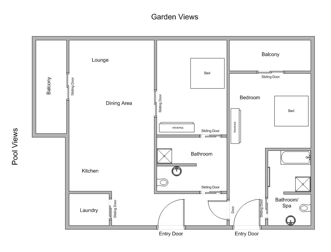 Lotus | 2 Bedroom Apartment Floor Plan